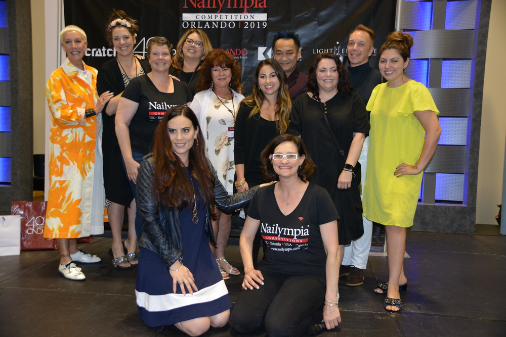 <p>Judges Jan Arnold, Lauren Wireman, Allie Baker, Cheryl Tibault, Trang Nguyen, Morgan Haile, Shelena Robinson, Vitaly Solomonoff, Beth Livesay, head judge Elaine Watson, and organizer Alex Fox</p>