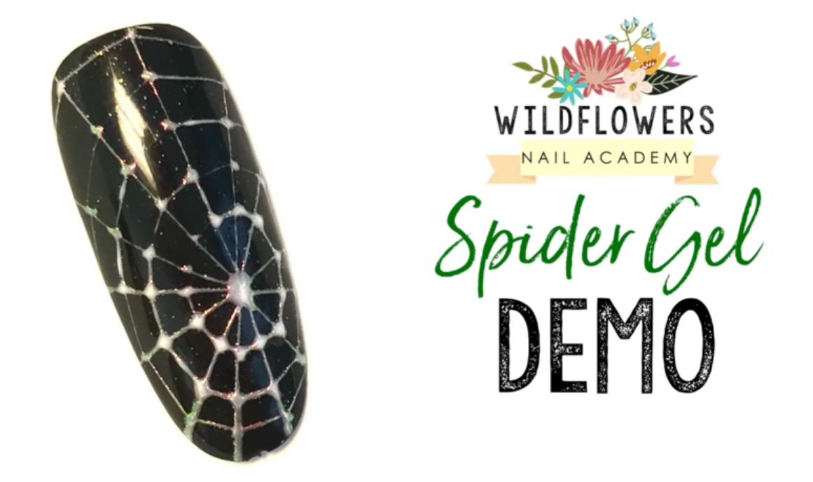 Wildflowers Spiderweb Gel Nail Art