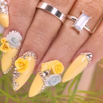 Spring 3-D Acrylic Flowers Nail Tutorial