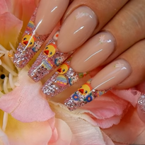 Easter Duckling and Bunny Nail Art Tutorial