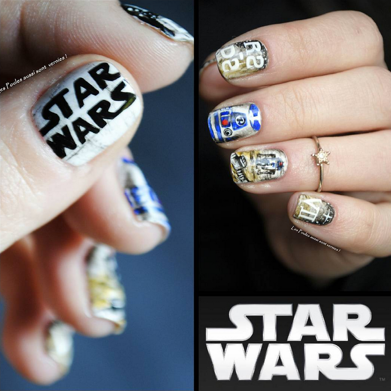 "<p>Star Wars nail art by <a href=""https://www.instagram.com/lespoulesaussisontvernies"">V&eacute;ronique V&eacute;ro</a>, Dr&ocirc;me, France</p>"