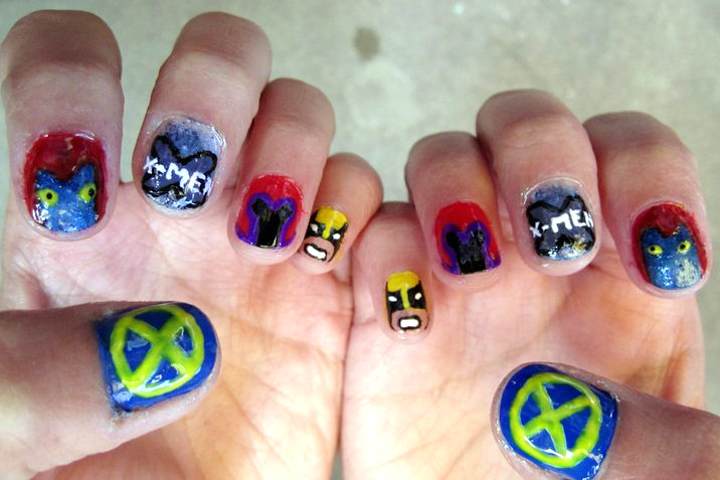 "<p>X-Men nails by <a href=""http://nailartgallery.nailsmag.com/katienailart"">StuffanieWorld</a></p>"