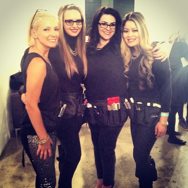 "<p>CND Education Ambassadors looking glamorous backstage. (Image via <a href=""http://instagram.com/cndworld"" target=""_blank"">@cndworld</a>)</p>"