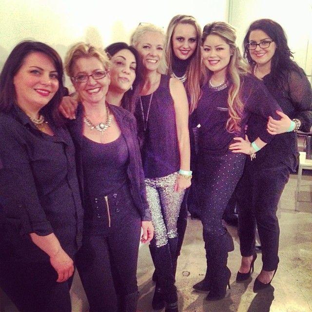 "<p>The AMAZING CND team, backstage last night. (Image via <a href=""http://instagram.com/cndworld"" target=""_blank"">@cndworld</a>)</p>"
