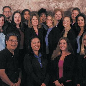 (back row, from left) Michael Kirk, Michelle Mullen, Helen Vangas, Cyndy Drummey, Debbie...