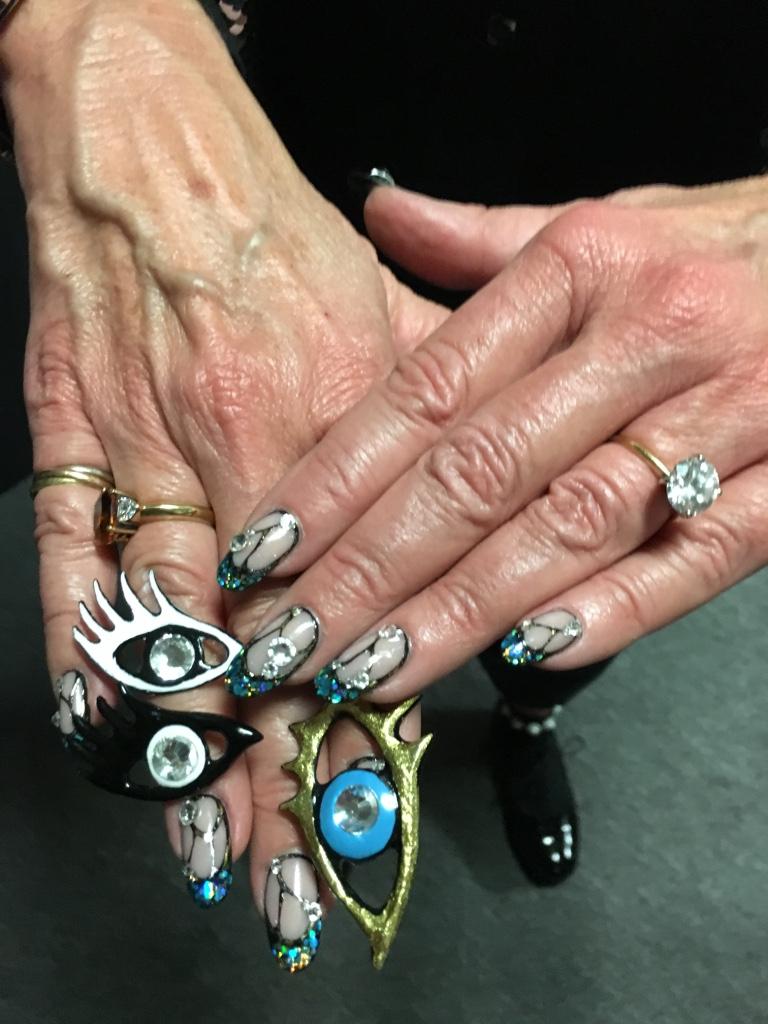 <p>Jan's Libertine-inspired nail art</p>