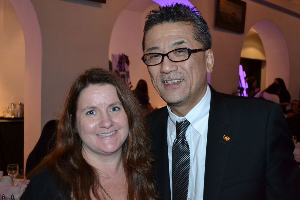 """<p>NAILS editor <a href=""""http://www.nailsmag.com/encyclopedia/64210/lee-hannah"""">Hannah Lee </a>with Mr. Misuno of Nails Unique in Japan. Mr. Misuno helped plan the memorial event.</p>"""