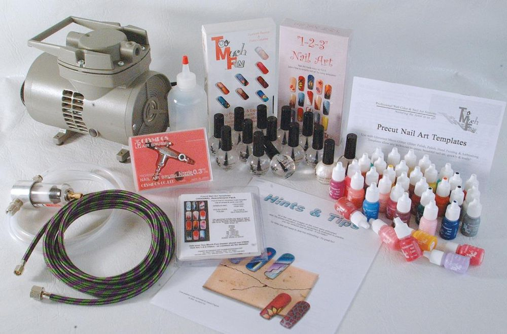 <p><strong>2004 Favorite Airbrushing System: Too Much Fun Complete Airbrush System</strong></p> <p>2nd: Safari Airbrush System; 3rd: Del Laboratories Sally Hansen Airbrush Legs; 4th: Medea Airbrush System; 5th: Badger Airbrush System</p>