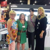 Vicki was a constant at every trade show. (Here we are at Premiere Orlando with Marilyn Garcia...