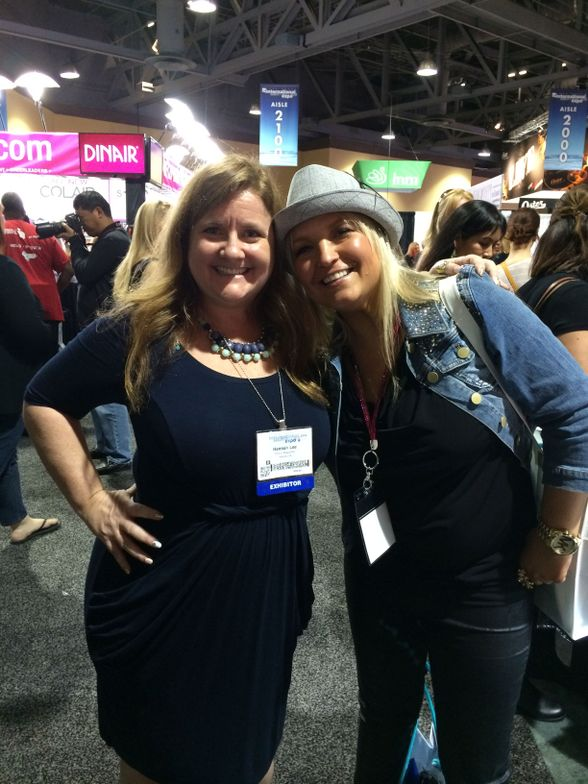 <p>Victoria Zegarelli (right) was the Top 11 finisher in NAILS Next Top Nail Artist. She continued to play along at home for the rest of the competition. Editor Hannah Lee was excited to finally meet her in person.</p>