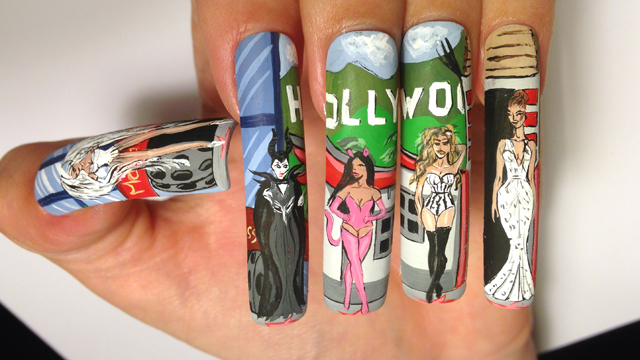 Hollywood Walk of Fame Nails for NTNA S.3 Challenge #4 (April)