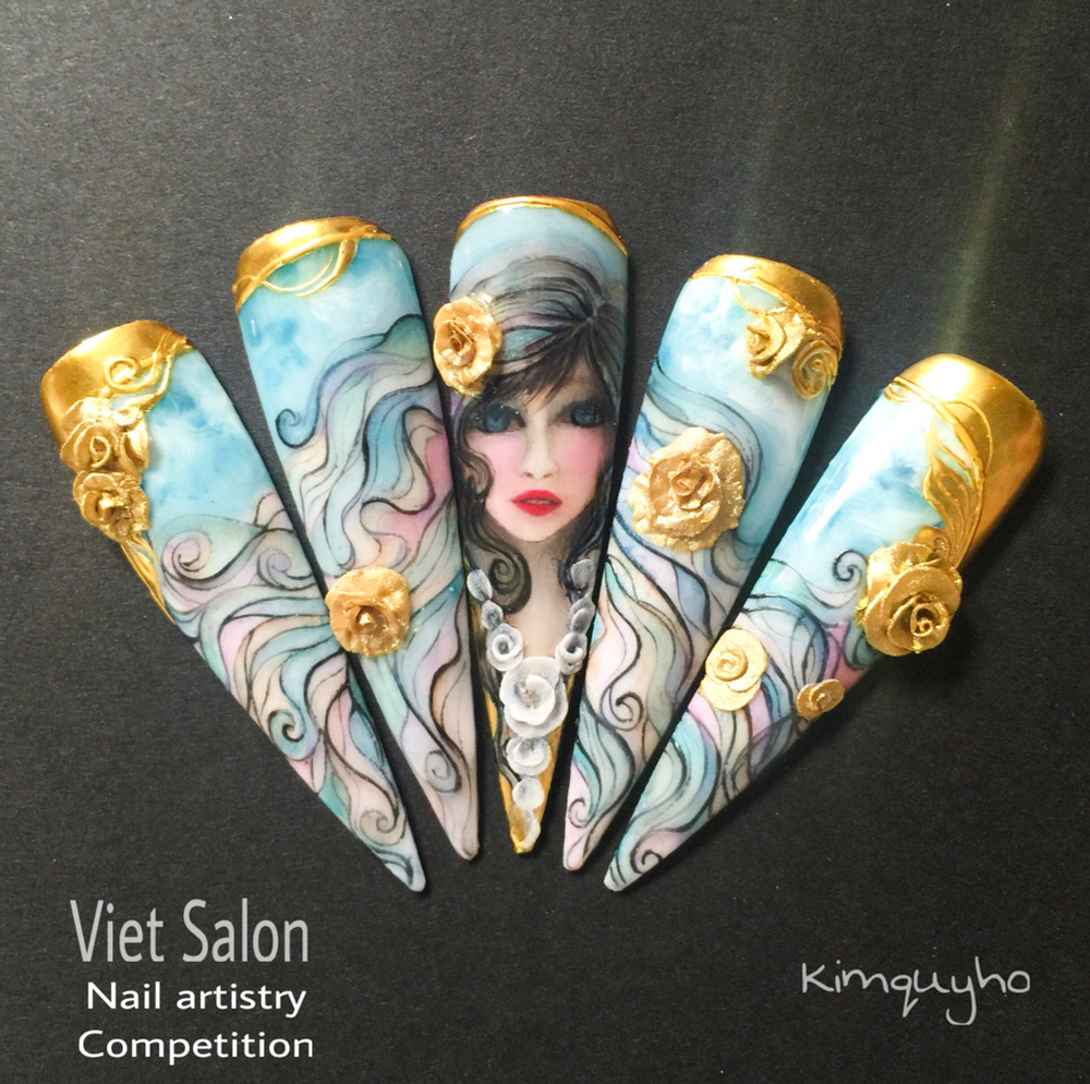 """<p>Nails by Kim Quy Ho for the <a href=""""http://www.viet-salon.com"""">VietSALON</a> Nail Artistry Competition</p>"""