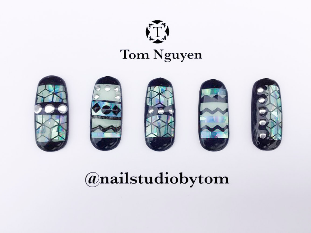 "<p>Nails by Tom Nguyen for the <a href=""http://www.viet-salon.com"">VietSALON</a> Nail Artistry Competition</p>"