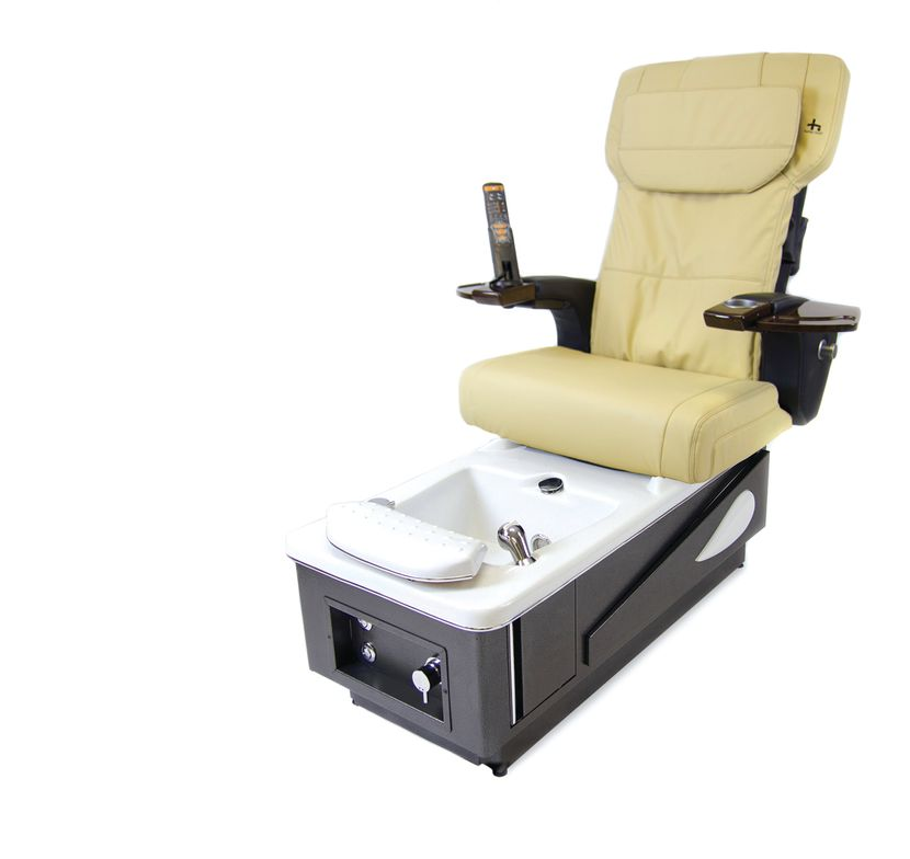 """<p>The Daytona Pedicure Chair by <a href=""""http://www.beyondesigns.org/"""">Beyond Designs</a> uses soothing Human Touch massage control systems in its backrest with nine automatic programs. It also features built-in storage compartments in front and on the sides of the basin that can hold a variety of tools and products and comes with a pop-out purse hanger for clients.</p>"""