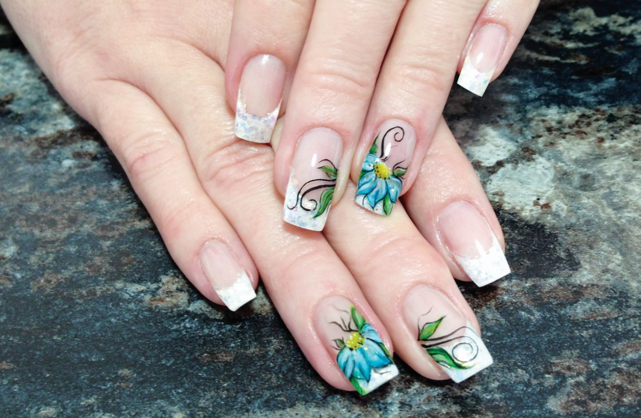 Beginner Nail Art with Watercolor Paint