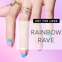 Wavy Striped Rainbow Nail Tutorial