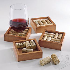 <p>If you serve wine in your salon you might want to consider saving those corks. You can get a coaster kit from wineenthusiast.com for just $9.99 and never have to worry about stains.</p>