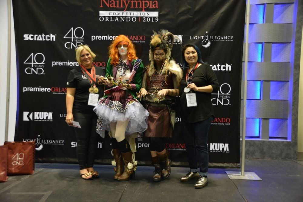 <p>Fantasy Complete Look Division 3 winners: Hazel Dixon (UK) and Aigul Fritzke (Canada)</p>