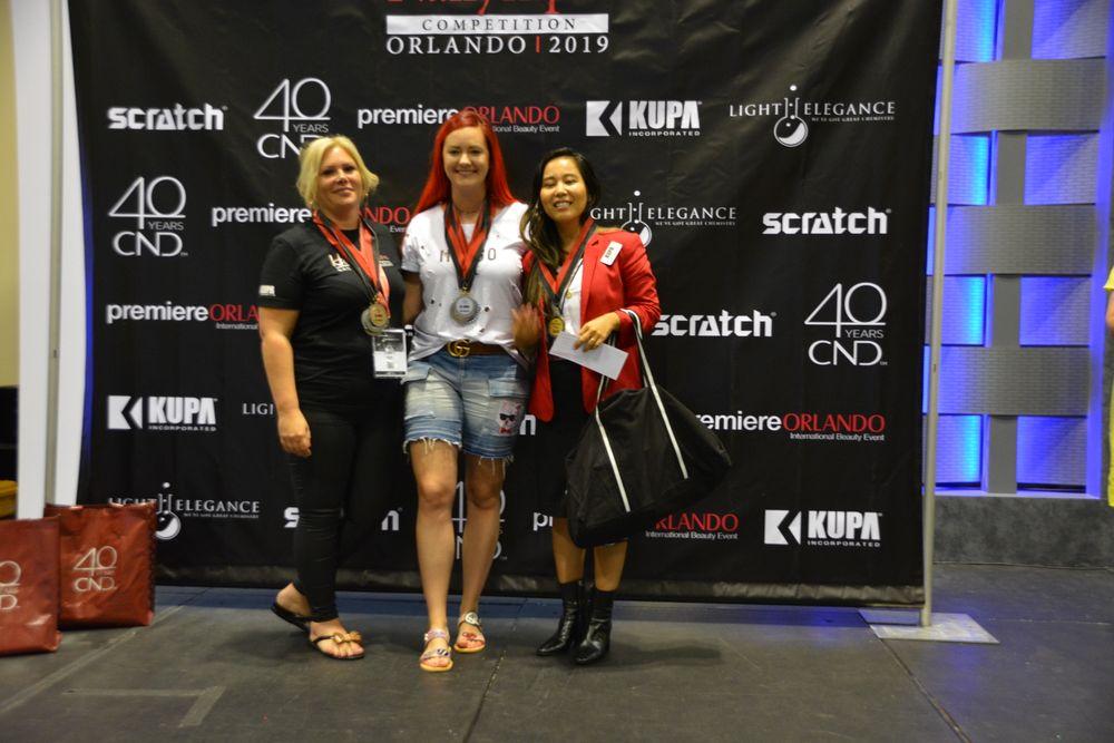 <p>Mixed-Media Boxed Art Division 3 winners: Akiko Russell (1st place); Joanna Bandurska (2nd place); Hazel Dixon (3rd place)</p>