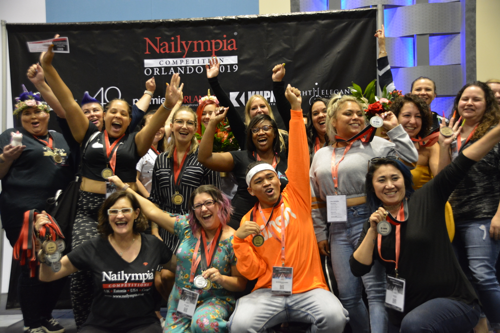 <p>All the Nailympia winners</p>