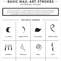 Basic Nail Art Strokes + Beginner Designs