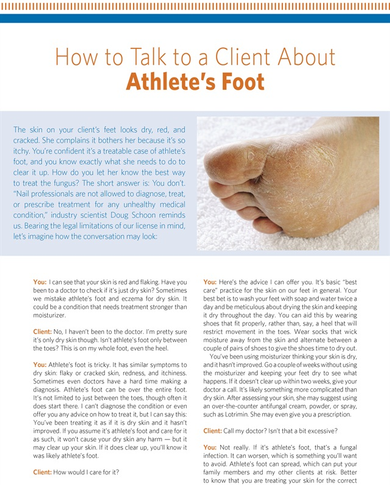 How to Talk to a Client About Athlete's Foot