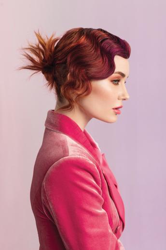 Hair: Teri Dougherty, Michael Dueñas and Peggy Wright for Aloxxi Photographer: Maarten de Boer  -