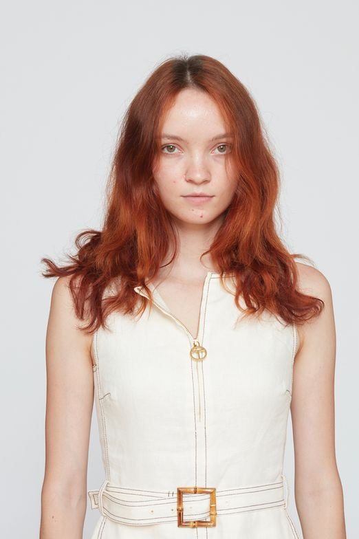 <p><strong>Before:</strong> After addressing the new growth, the colorists formulate two unique shades using the new Leonardo collection. A rose copper and a deeper copper were alternated throughout in diagonal sections to create a tasteful flow and blend.</p>