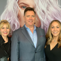 MODERN's Maggie Mulhern and Alison Alhamed with Kao Salon Divison Global President Cory Couts.