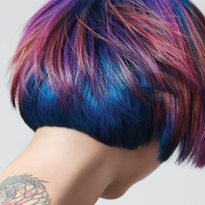 Intense Blue Moon Hair Color Using Goldwell Elumen