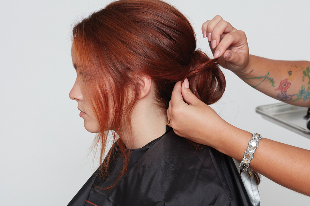<p><strong>Step 6:</strong> Style into a chignon at the nape.</p>
