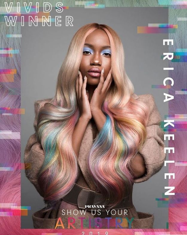 "<p><em><strong>CONGRATULATIONS to our SHOW US YOUR ARTISTRY 2019 VIVIDS Category WINNER, Erica Keelen&nbsp;<a href=""https://www.instagram.com/ericakeelen_hair_love/"">@ericakeelen_hair_love</a>! ⭐ Elegant and timeless. Judges thought Erica&#39;s color palette is a testament to the shifting trend in creative color and she executes it perfectly.</strong></em></p>"