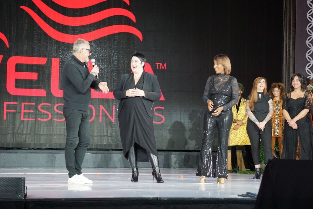 <p><strong>Michael Haase, Carole Protat and&nbsp;Diane Stevens</strong>&nbsp;onstage</p>