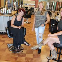 The team at Rootz Salon—Jen LeBlanc, Sheila Barco and Jen Tryon—says e-commerce sales have...
