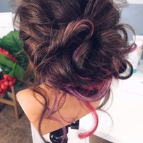 Color Depositing Masks Add Pops of Color to Updos