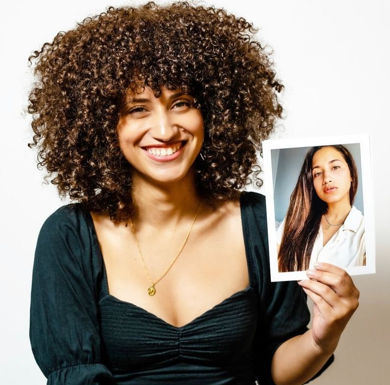 <p>Curls: @mila_bobier</p>  <p>Cut: @themonacut</p>  <p>Photo: @damarimcbride ...Mila recently transitioned into her curls almost 2 years ago..</p>