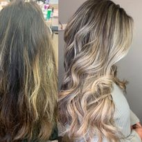 Hair color makeover by Janel Latessa.