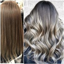 Hair color makeover by Marina Sellecchia with cut and style by Jamie Lynn.