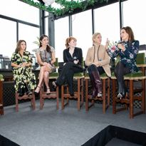 HALO panel: HALO recipient, Marjai; Moroccanoil co-founder, Carmen Tal; HALO founder Rebecca...