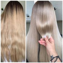 Hair color makeover by Anastasia Petrova.