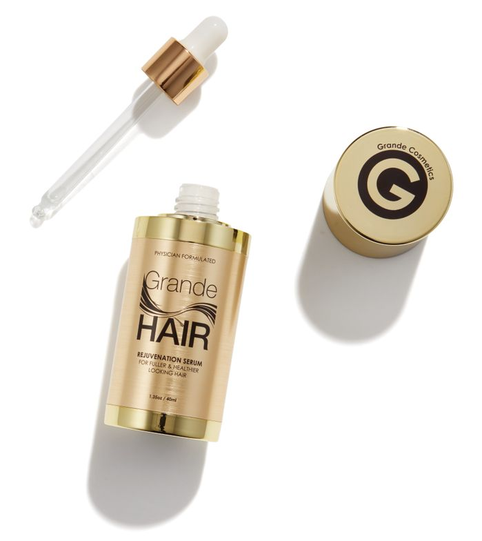 <p>&quot;GrandeHAIR Rejuvenation Serum by Grande Cosmetics is packed with Silk Amino Acids and go-to ingredient, Castor Oil, to replenish hair with added shine and moisture while binding hair fibers for a sleek look.&quot;&nbsp;- Nadene Gillule, Grande Cosmetics National Educator</p>