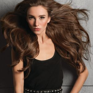 "The halo-styled Hairdo Invisible Extension 20"" is applied like a headband. Made with HairUWear's..."