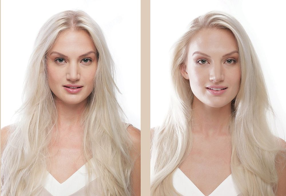 <p><strong>This before and after shows the results of the new ABSOLUE K&Eacute;RATINE repair regimen for fine to medium, damaged, over-processed hair.</strong></p>