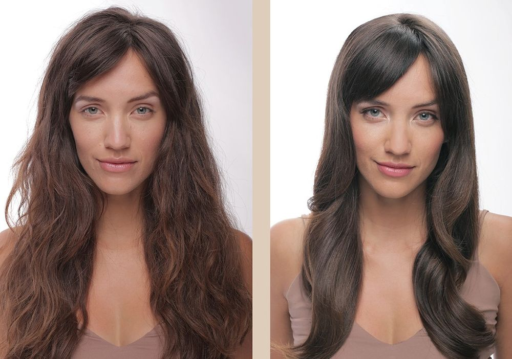 <p><strong>Another ABSOLUE K&Eacute;RATINE before and after. This three-part ritual offers formula options for fine-to-medium and thick hair.</strong></p>