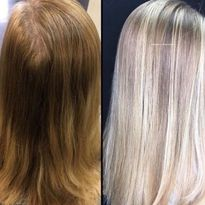 Hair color makeover by Sabrena Handley