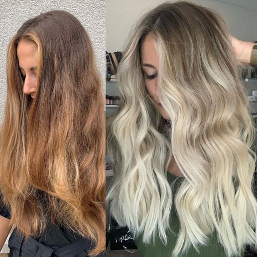 Hair color makeover by Grayson Troy