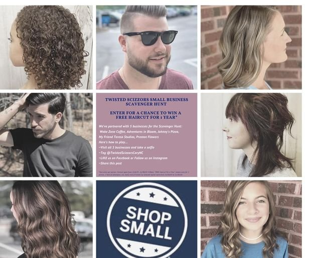 Amanda Kimball, co-owner of North Carolina's Twisted Scizzors, shares her salon's Small Business Saturday Scavenger Hunt promotion.