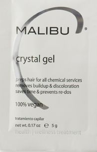 <p>Regular Malibu C Crystal Gel treatments remove hard water mineral buildup, paving the way for clean, even, healthy hair color.</p>