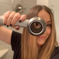 Dried by Dyson: An iron-free finish on MODERN SALON's Editor in Chief Alison Alhamed, thanks to...