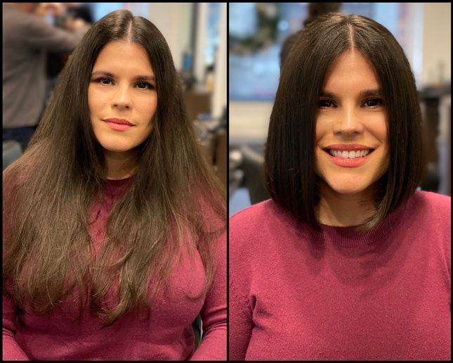 Haircut makeover by Josh DeMarco